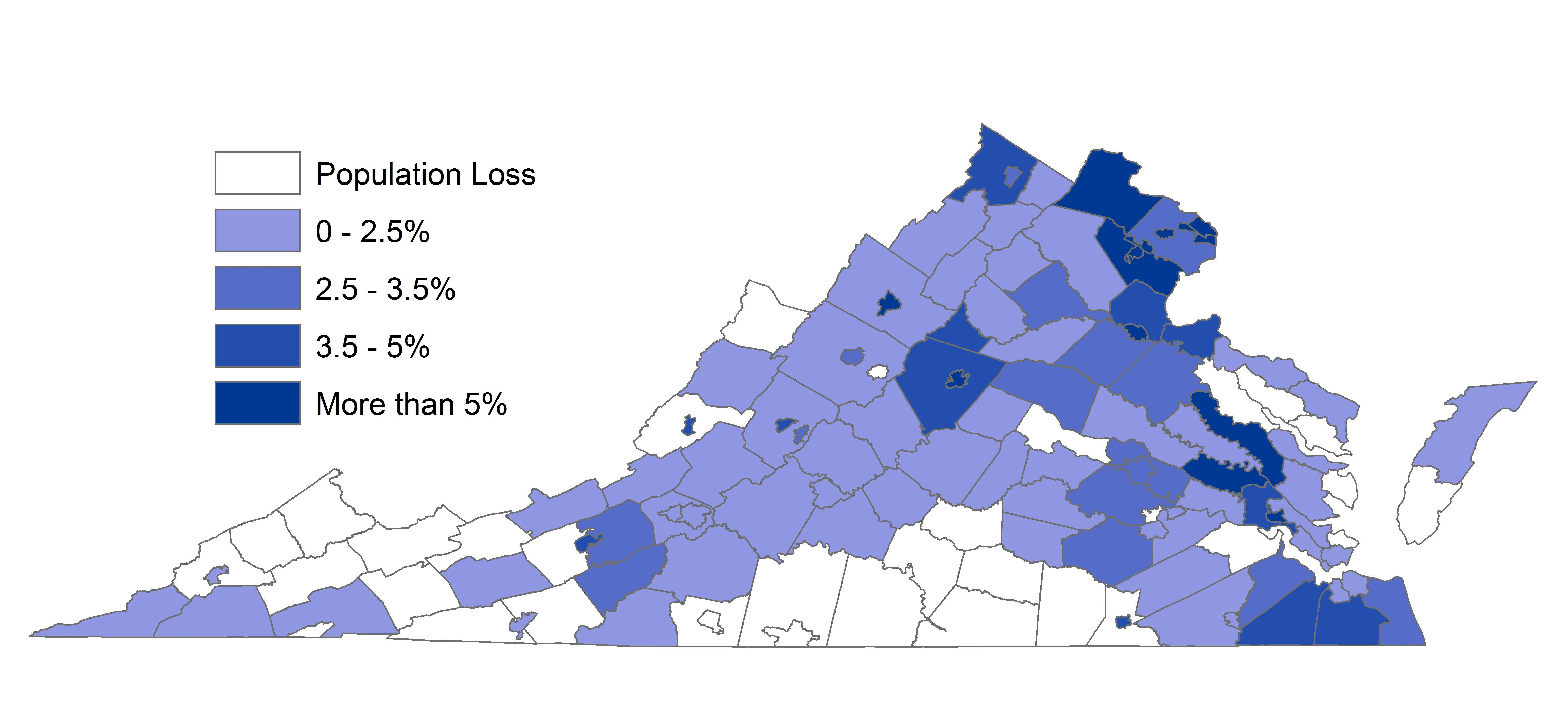 Interactive Map Of Virginia.Virginia Statistics Facts And Statistics For Adult Education And