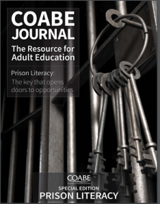 Cover image of COABE journal special edition of prison literacy